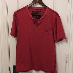 Buffalo David Bitton Red T-shirt size medium